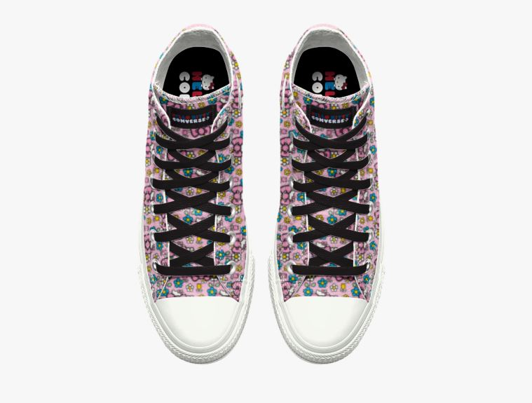 Converse Custom Chuck Taylor All Star Hello Kitty High Top 球鞋售價為 85  美元,並會在下單後三星期內寄出。有興趣的朋友可以點擊這裡 ... 6d2406b61