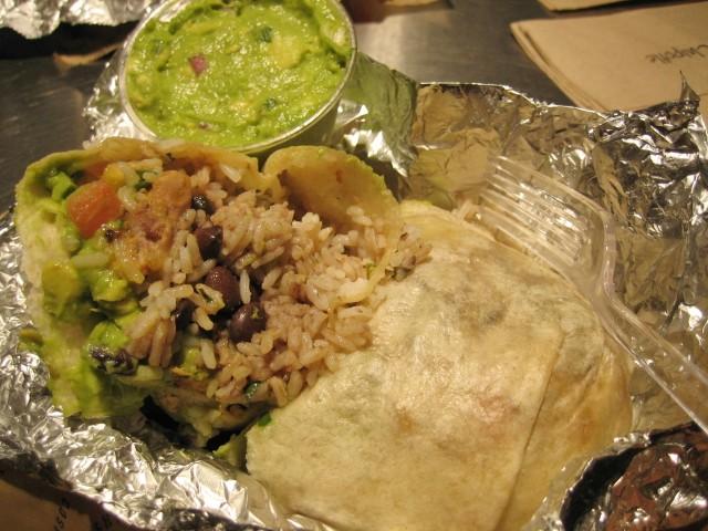chipotle burrito unwrapped