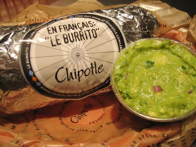 chipotle burrito wrapped