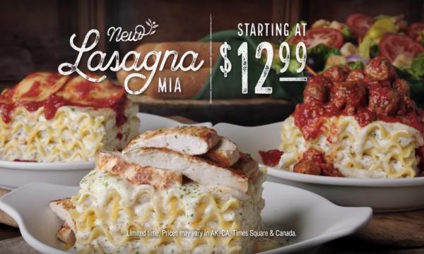 Olive garden lasagna wacowla los angeles wacowla los angeles for Olive garden create your own pasta